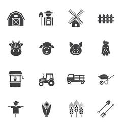 Farming icon vector image vector image