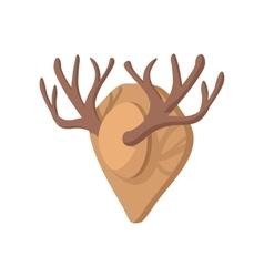 Hunting trophy cartoon icon vector image vector image