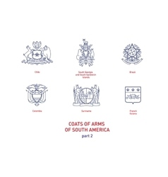 images of coats arms South America vector image