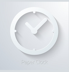 Paper Clock Watch Icon vector image vector image