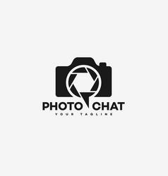 photo chat logo vector image vector image