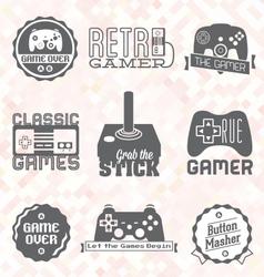 Retro Video Game Shop Labels vector image vector image