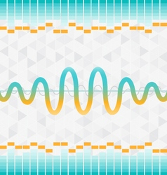 sound and audio waves equalizer background vector image