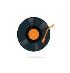 vinyl record icon in color vector image