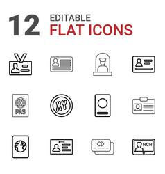 12 identity icons vector