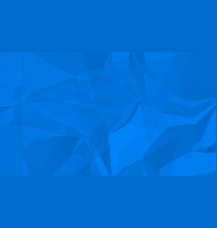 Abstract blue crumpled paper texture background vector
