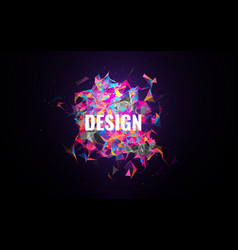 abstract modern geometric background colorful vector image