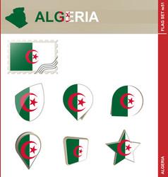 Algeria flag set flag set 51 vector