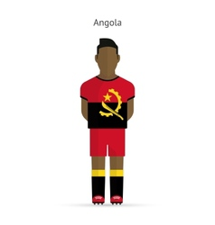 Angola football player soccer uniform vector