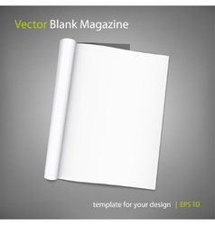 Blank page of magazine on grey background vector
