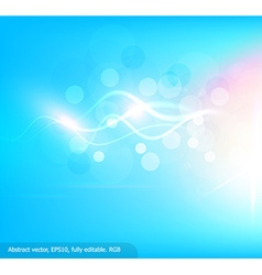 Bright Blue Background with Curved White Lines vector image