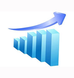 business rising bar vector image