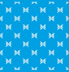 Butterfly with scalloped wings pattern vector