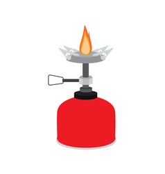 camping stove vector image