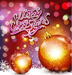 christmas background with greeting inscription and vector image vector image