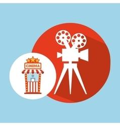 Cinema movie ticket office film camera graphic vector
