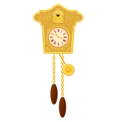 clock gold 380 vector image