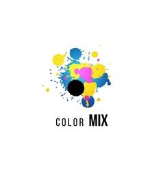 CMYK logo template vector image