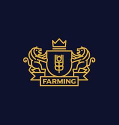 Coat arms farming vector