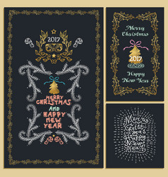 collection of christmas design elements isolated vector image