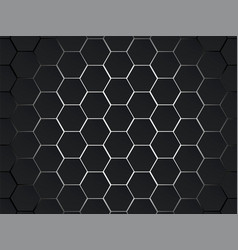 dark gray and white hexagons modern geometrical vector image