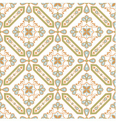 Decorative tile seamless pattern mediterranean vector