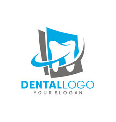 dental clinic logo template design vector image
