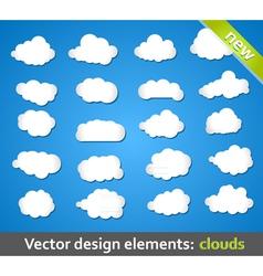 Design Elements Clouds vector image