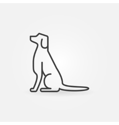 Dog line icon vector