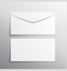 envelope front and back mockup template vector image vector image