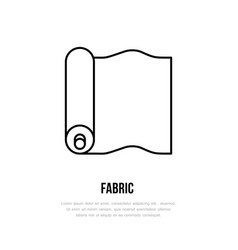Fabric roll flat line icon textile sign thin vector