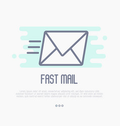 Fast mail or e-mail symbol vector