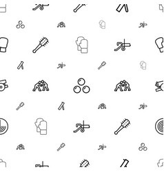 Fight icons pattern seamless white background vector