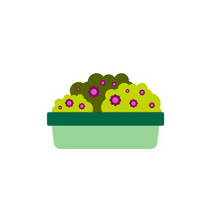 Flowers in a big pot icon house pot plants vector