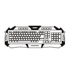 Gamer keyboard device sketch vector