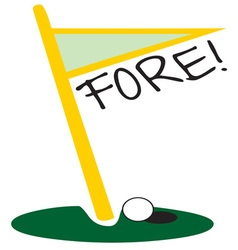 Golf Fore vector image