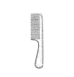 Hand drawn comb vector
