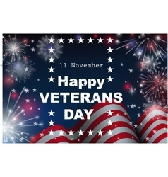 Happy Veterans day greeting card vector