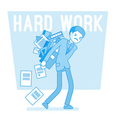 Hard work man vector