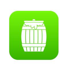 Honey keg icon digital green vector
