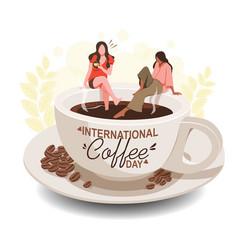 international day coffee vector image