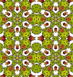 Kaleidoscope of succulents vector