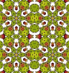 Kaleidoscope succulents vector