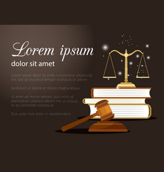Law and justice background vector