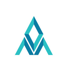 letter m diamond abstract logo icon vector image