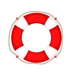 Lifebuoy on white vector