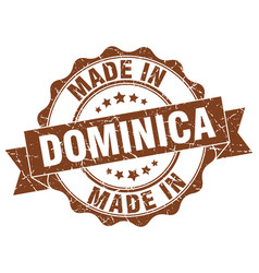 made in dominica round seal vector image