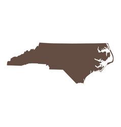 map us state north carolina vector image