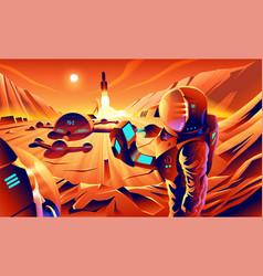 mars colonization vector image