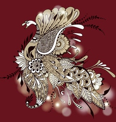Mehndy peacock vector image